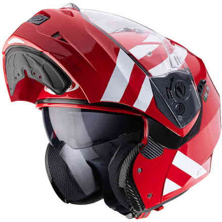 Helm Duke II Superlegend Rot Weiss Caberg