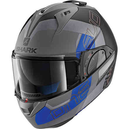 Helm Evo-One 2 Slasher Mat Anthrazit Matt / Schwarz Blau Shark