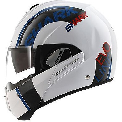 Helm Evoline 3 Drop Weis-blau-rot Shark