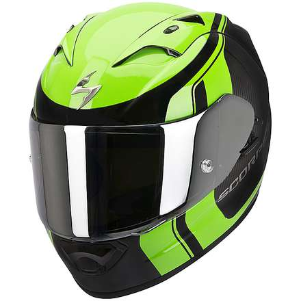 Helm Exo-1200  Air Stream Tour Schwarz-Grun Matt Scorpion