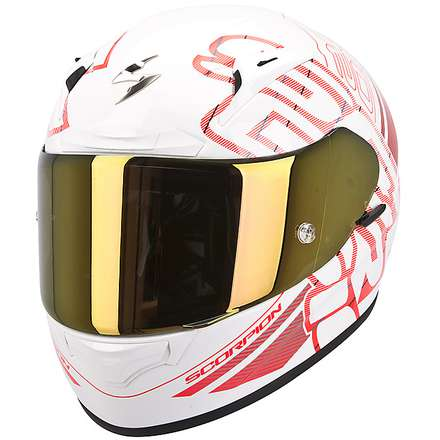Helm Exo-2000 Evo Air Ipsum Perlweiss-Rot Scorpion