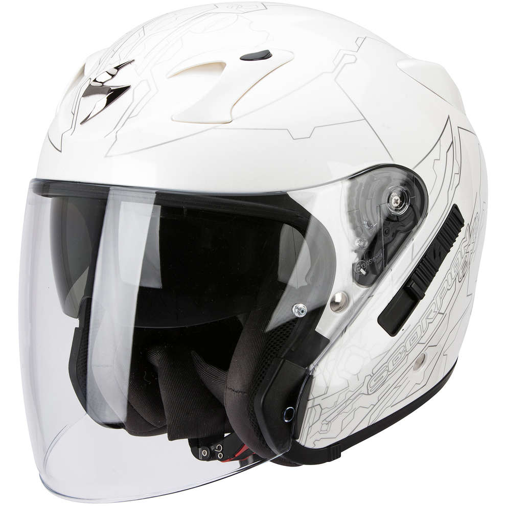 Helm Exo-220 Ion weiss-silber Scorpion