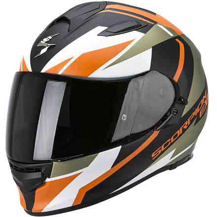 Helm Exo -510 Air Fujin   schwarz-grun-orange Scorpion