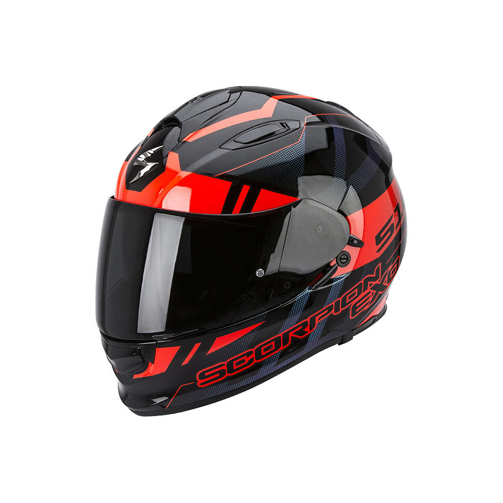 Helm Exo -510 Air Stage schwarz-rot Scorpion