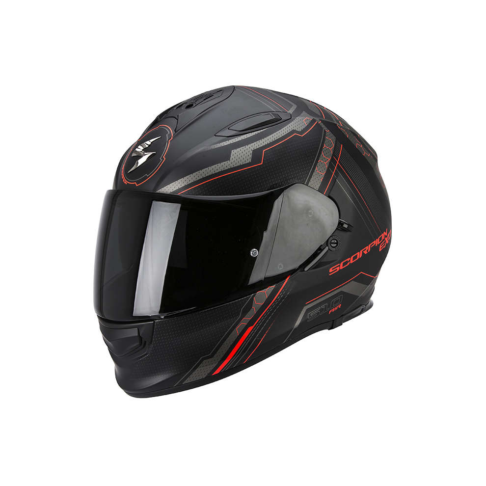 Helm Exo -510 Air Sync schwarz-rot Scorpion