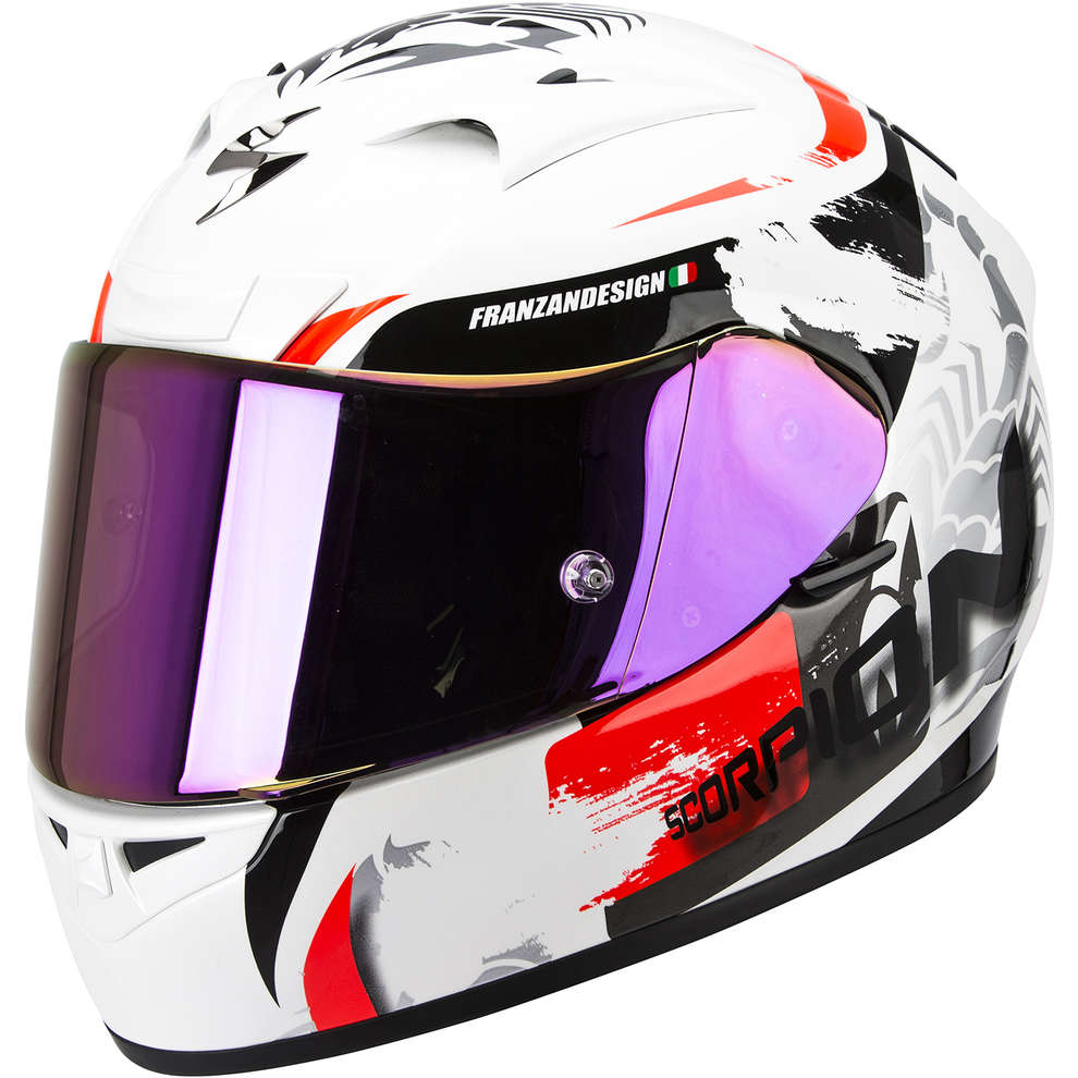 Helm Exo-710 Air Cerberus weiss-rot Scorpion