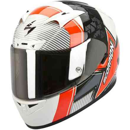 Helm Exo 710-Air Crystal Weiß Rot Scorpion