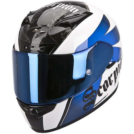 Helm Exo-710 Air Knight Weiss-Blau Scorpion