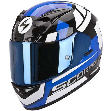 Helm Exo-710 Air Square Weiss-Blau Scorpion