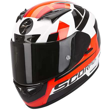 Helm Exo-710 Air Square Weiss-Rot Scorpion