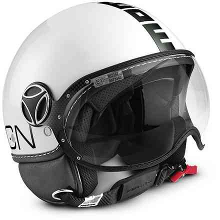 Helm Fgtr Classic Wht/Blk Momo