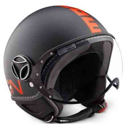 helm Fgtr Fluo Orange Schwarz Momo
