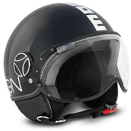 Helm Fighter Classic Antrazyt Weiss Momo