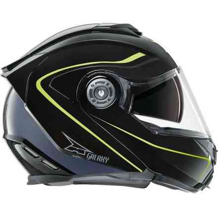 Helm Galaxy Con Pinlock Black/Yellow Axo
