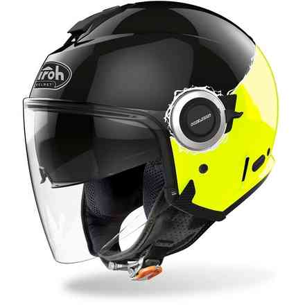 Helm Helios Fluo Gelb Gloss Airoh
