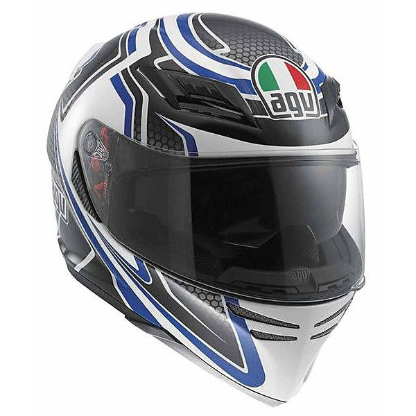 Helm Horizon  Racer - white/carbon/blue Agv
