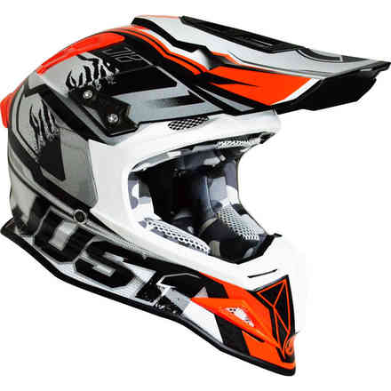 Helm J12 Dominator Weiss Rot Just1