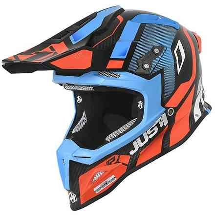 Helm J12 Vector Orange / Blau / Carbon Just1