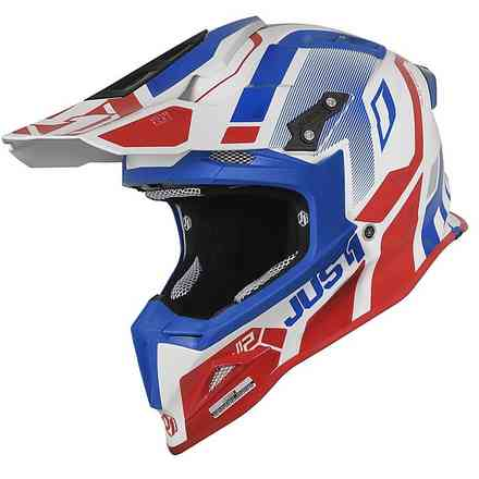 Helm J12 Vector Rot / Blau / Weiß Just1