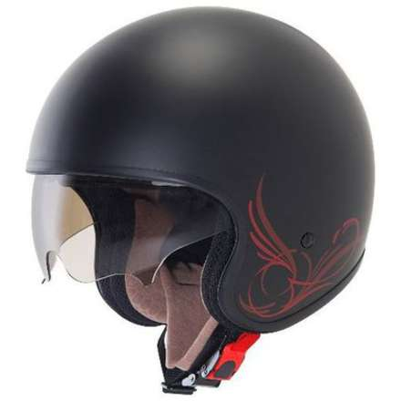Helm Jet 70's Custom Matt Black Suomy