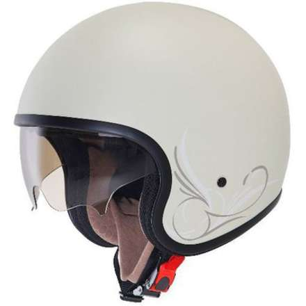 Helm Jet 70's Custom Milk Suomy