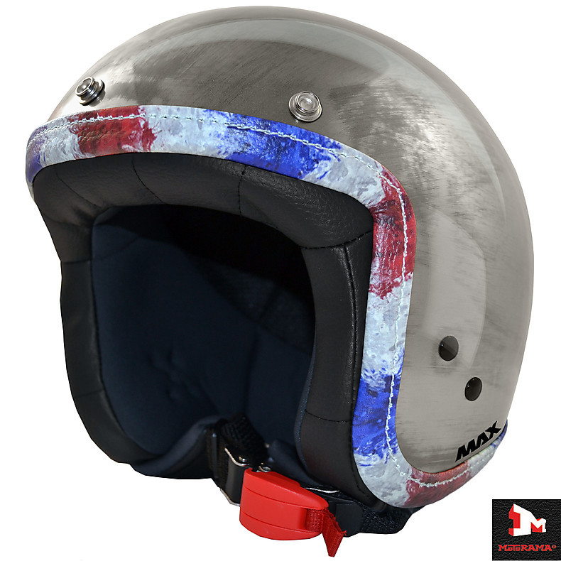 Helm Jet Flag Chrom kratz france Flagge MAX - Helmets