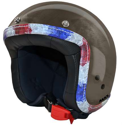 Helm Jet Flag  Chrombronze-France MAX - Helmets