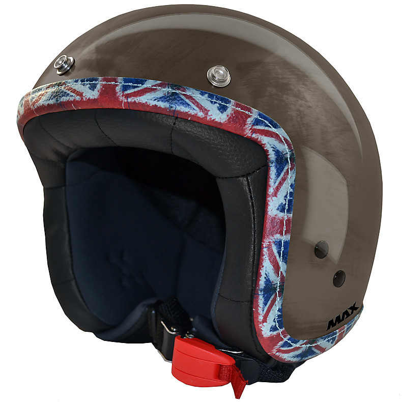 Helm Jet Flag  Chrombronze-UK MAX - Helmets
