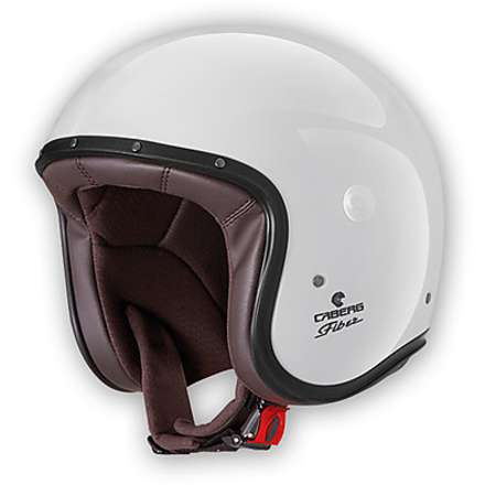 Helm Jet Freeride metal white Caberg