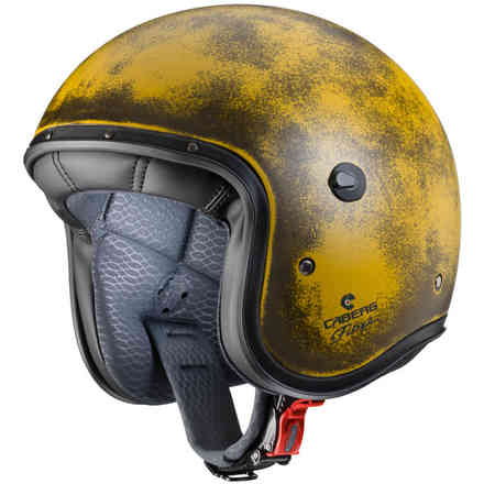 Helm Jet Freeride Yellow Brushed  Caberg