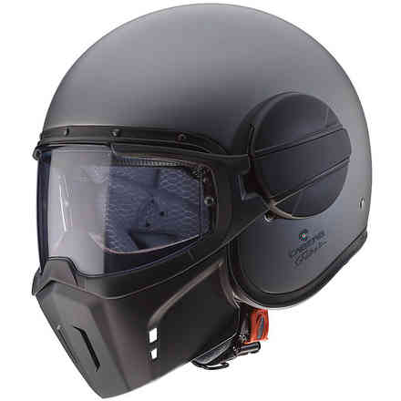 Helm Jet Ghost Matt Gun Metal Caberg