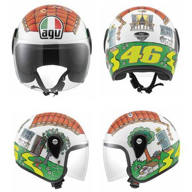 Helm Junior Open Valentino's house Agv