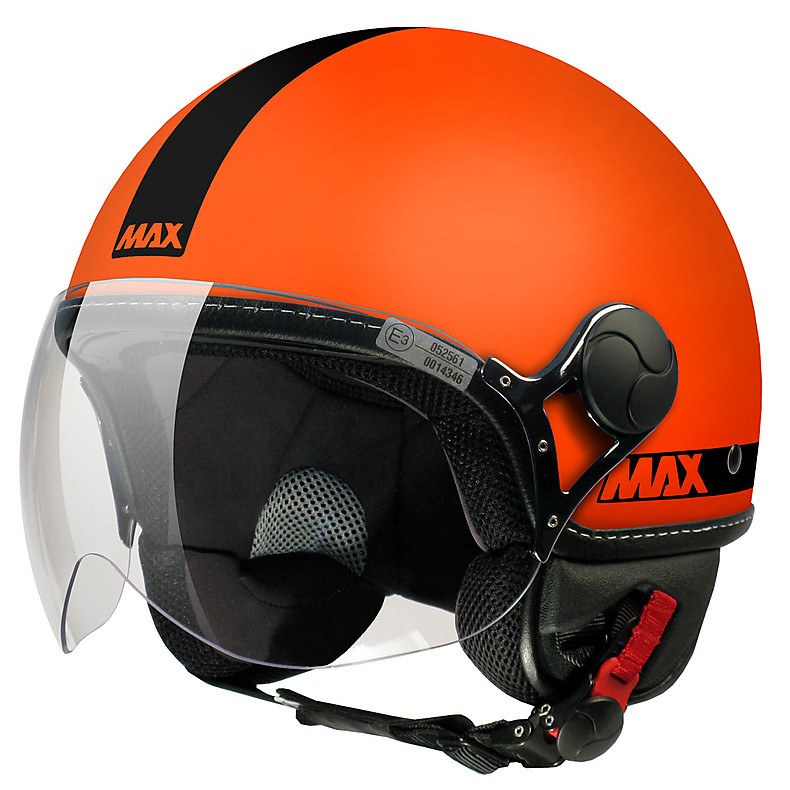 Helm Max Power Orange mat-schwarz MAX - Helmets