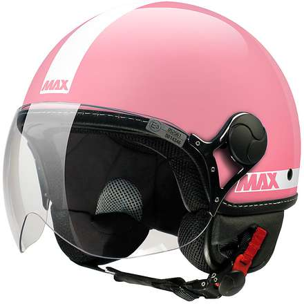 Helm Max Power Shiny rosa-weiß MAX - Helmets