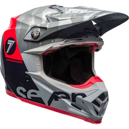 Helm Moto-9 Flex Seven Zone Navy Coral Bell