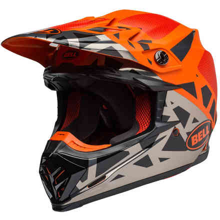 Helm Moto-9 Mips Tremor M/G Schwarz Orange Chrome Bell