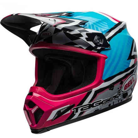 Helm Mx-9 Mips Tagger Asymetric Blau Pink X Bell