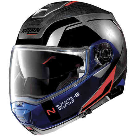 Helm N100-5 Consistency N-Com Scratched Chrome Nolan