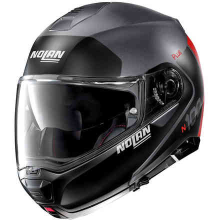 Helm N100-5 Plus Distinctive Flat Lava Grau Rot Nolan