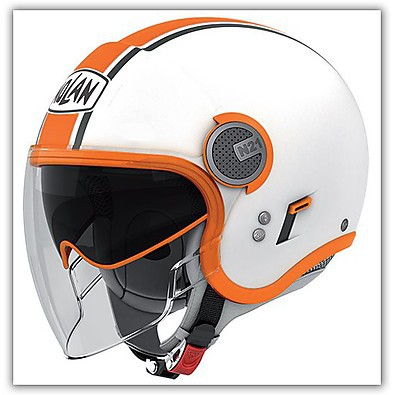 Helm N21 Visor  Duetto Orange Nolan