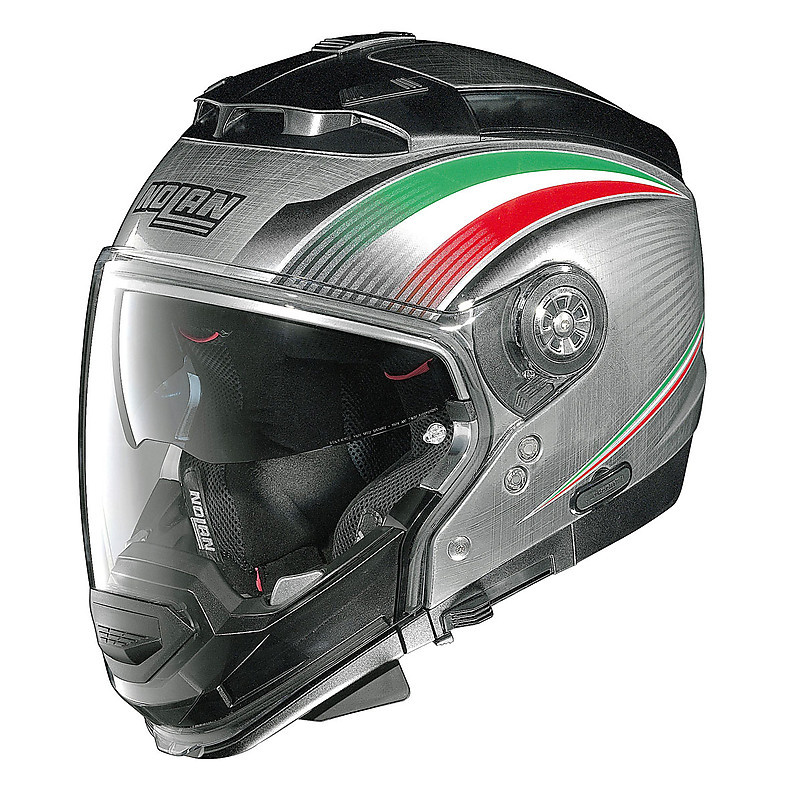 Helm N44 Evo  Italy Scratched Chrome Nolan