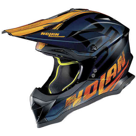 Helm N53 Whoop Schwarz Blau Orange Nolan