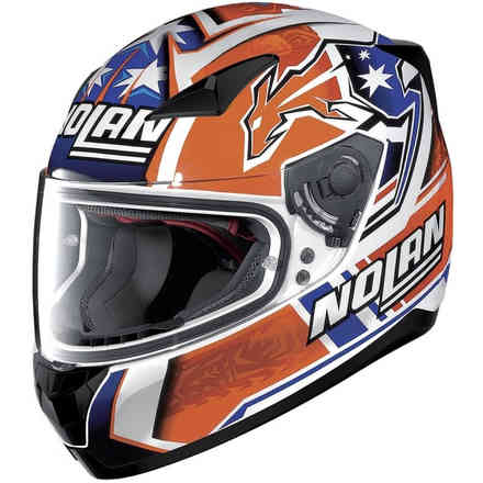 Helm N60-5 Gemini Replica Stoner Weiss Orange Blau Nolan