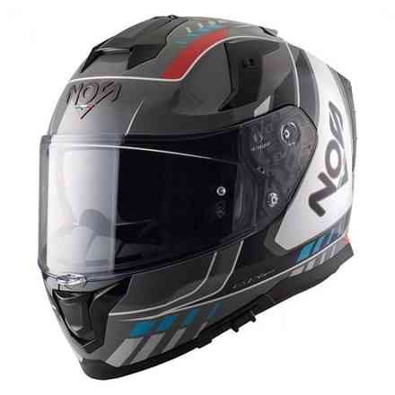 Helm Ns-10 Full Face Mig Rot Blau NOS