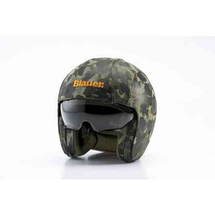 Helm Pilot 1.1. Ht Leather Camo Blauer