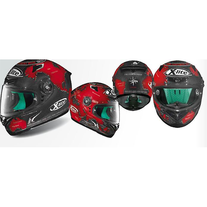 Helm Replik X-802RR Ultra Carbon C.Checa X-lite
