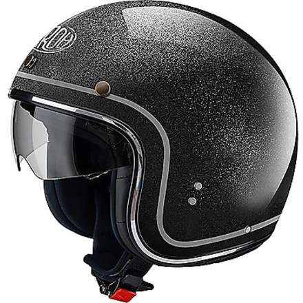 Helm Riot Color schwarz glitter Airoh