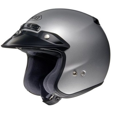 Helm Rj Platinum-r Light Silver Shoei
