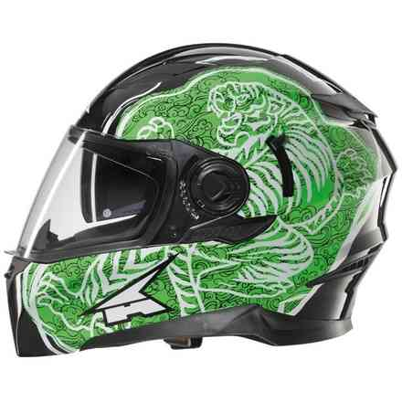 Helm Rs01 Con Pinlock Black/green Axo