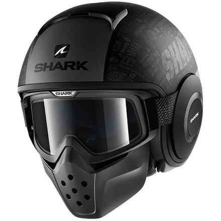 Helm Shark Drak Tribute Rom Mat Shark